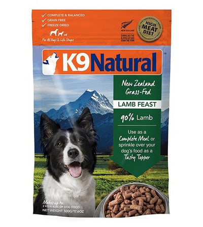 20% OFF: K9 Natural Freeze Dried Lamb Feast Dog Food