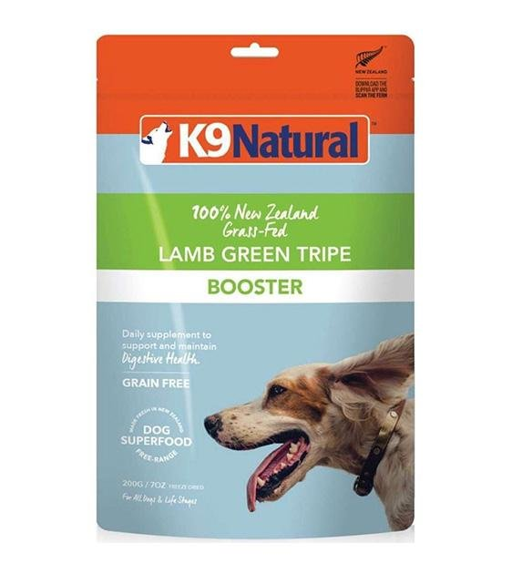 20% OFF: K9 Natural Freeze Dried Lamb Green Tripe Booster Dog Food