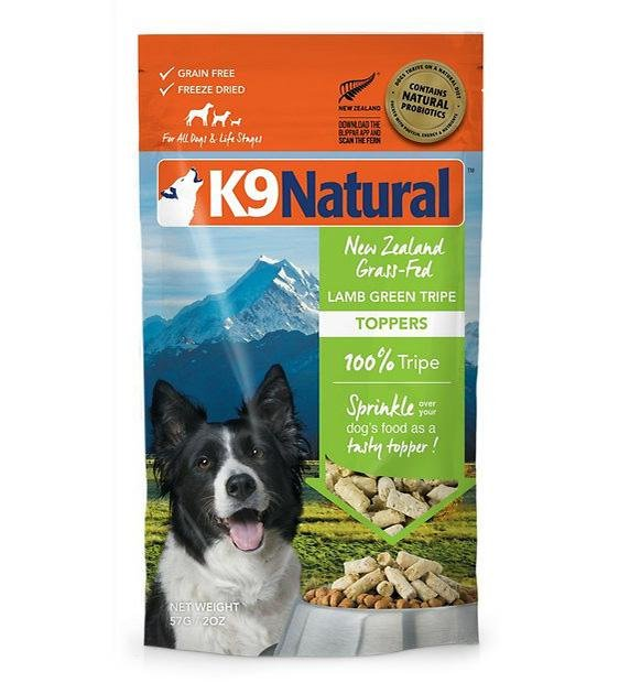 20% OFF: K9 Natural Freeze Dried Lamb Green Tripe Topper Dog Food