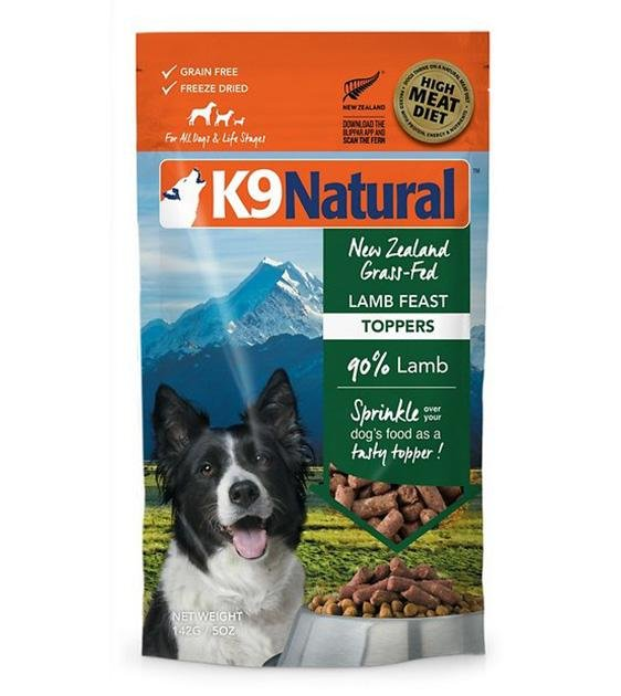 20% OFF: K9 Natural Freeze Dried Lamb Topper Dog Food