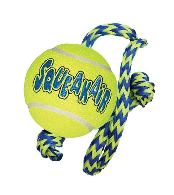 20% OFF:  KONG AirDog Squeakair Ball with Rope Dog Toy