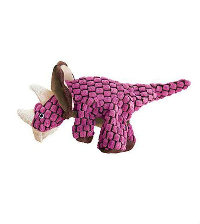 20% OFF:  KONG Dynos Pink Triceratops Dog Toy