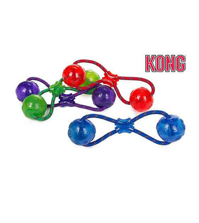 20% OFF:  KONG Squeezz Double Ball with Rope Dog Toy