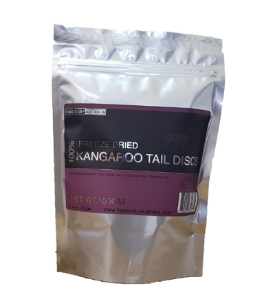 Freeze Dry Australia Kangaroo Tail Discs Freeze Dried Cat & Dog Treats