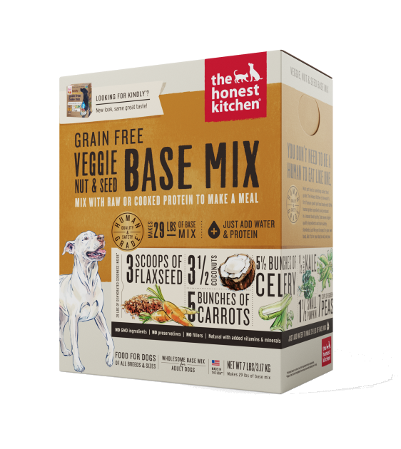 The Honest Kitchen Grain Free Kindly Nut & Seed Base-Mix Recipe Dehydrated Dog Food
