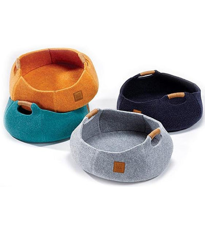 LifeApp Pet Basket Bowl Bed (Sunset Orange)