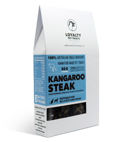 Loyalty Pets Kangaroo Steak Dried Dog Treats
