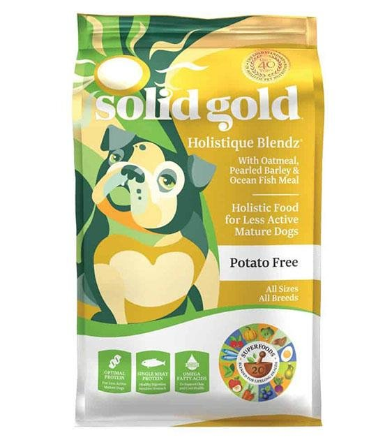 42% OFF: Solid Gold Holistique Blend Senior (Oatmeal, Pearled Barley & Ocean Fish Meal) Dry Dog Food