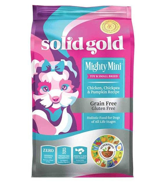 35% OFF: Solid Gold Mighty Mini Grain Free (Chicken, Chickpea & Pumpkin) Dry Dog Food