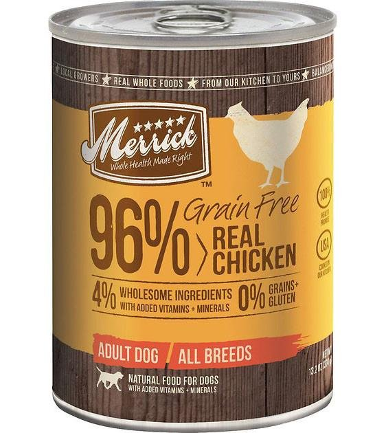 Merrick 96% Grain Free Real Chicken Canned Dog Food