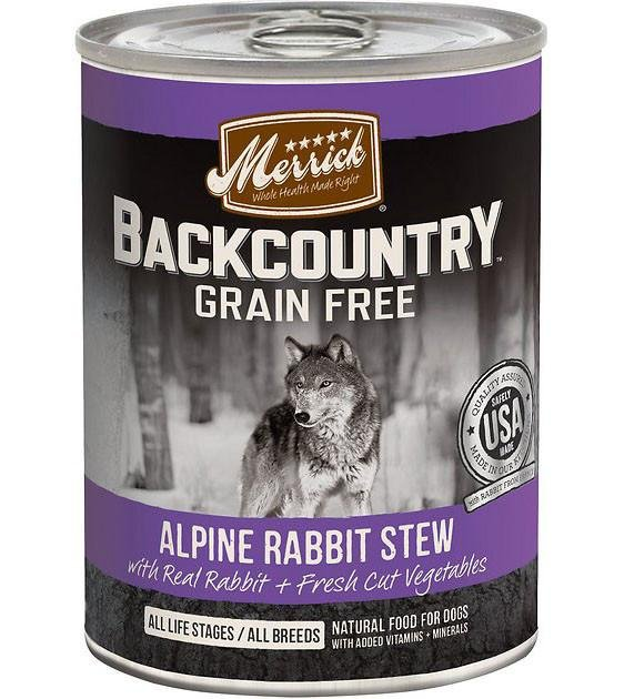 Merrick Backcountry Alpine Rabbit Stew Canned Dog Food