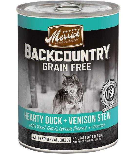 Merrick Backcountry Hearty Duck & Venison Stew Canned Dog Food