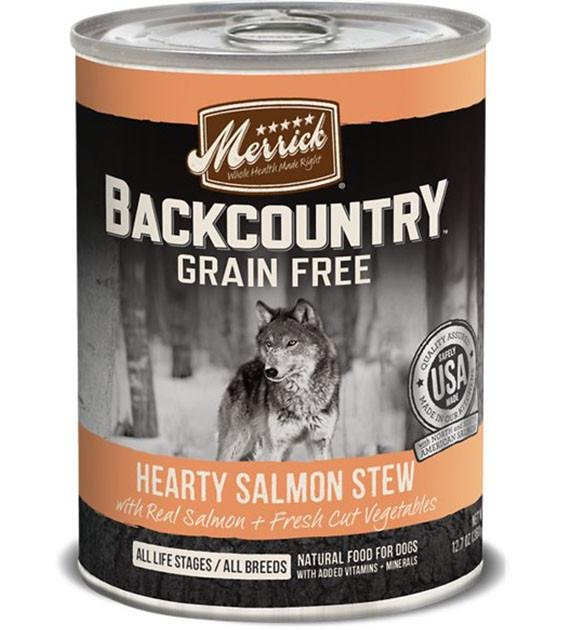 Merrick Backcountry Hearty Salmon Stew Canned Dog Food