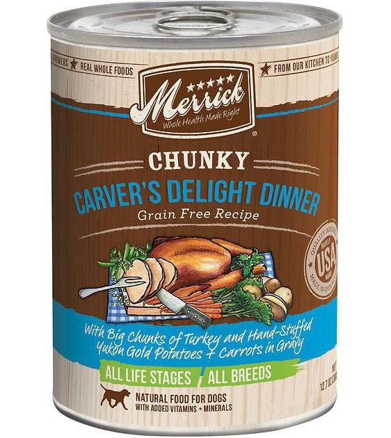 Merrick Chunky Carver's Delight Dinner Canned Dog Food