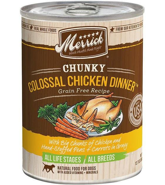 Merrick Chunky Colossal Chicken Dinner Canned Dog Food