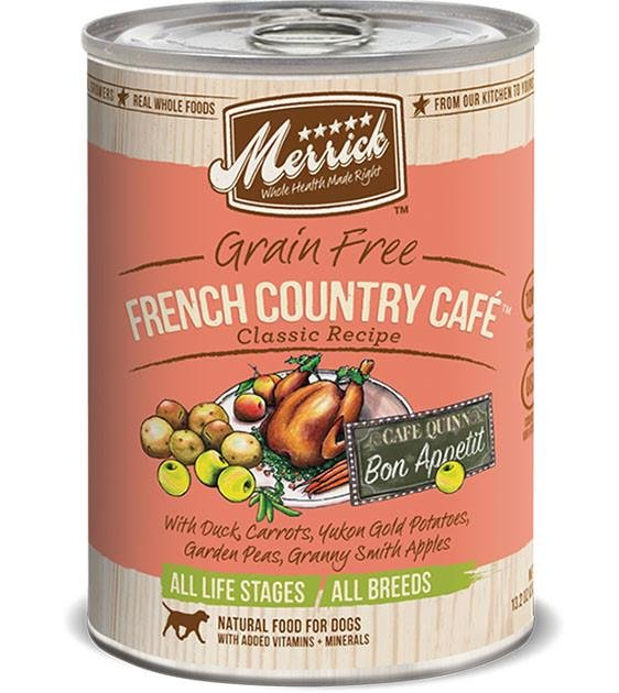 Merrick Grain Free French Country Café Classic Recipe Canned Dog Food