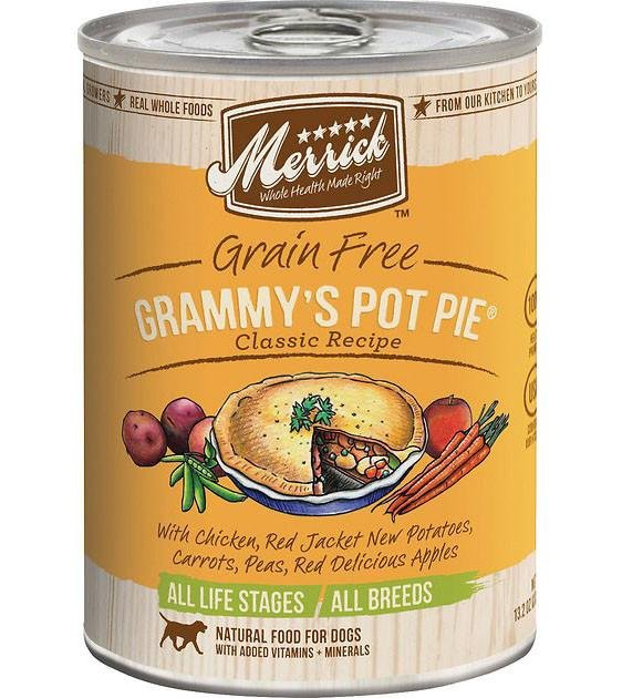 Merrick Classic Grain Free Grammy's Pot Pie Recipe Canned Dog Food