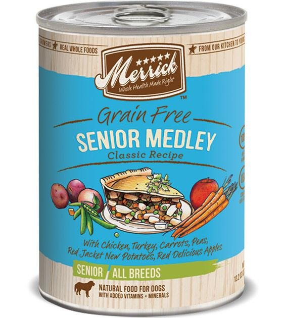 Merrick Classic Grain Free Senior Medley Recipe Canned Dog Food