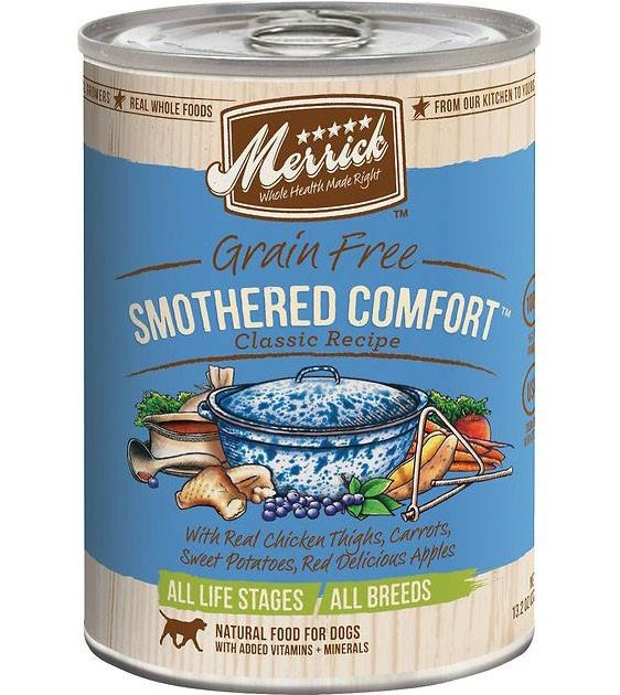 Merrick Classic Grain Free Smothered Comfort Recipe Canned Dog Food