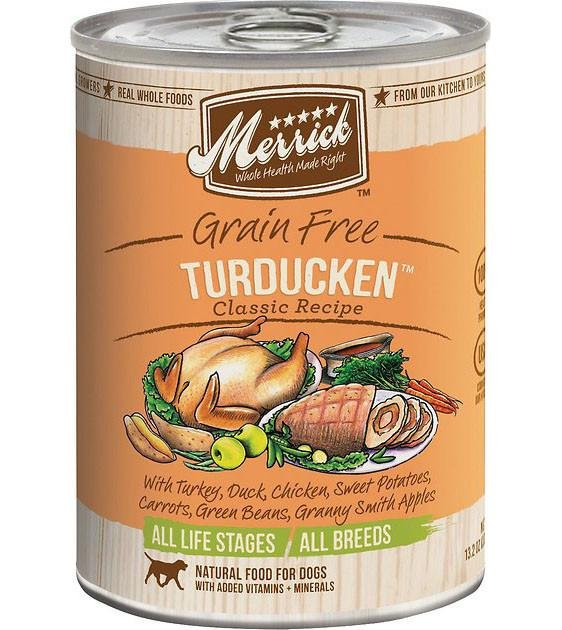 Merrick Classic Grain Free Turducken Recipe Canned Dog Food