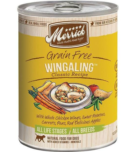 Merrick Classic Grain Free Wing A Ling Recipe Canned Dog Food