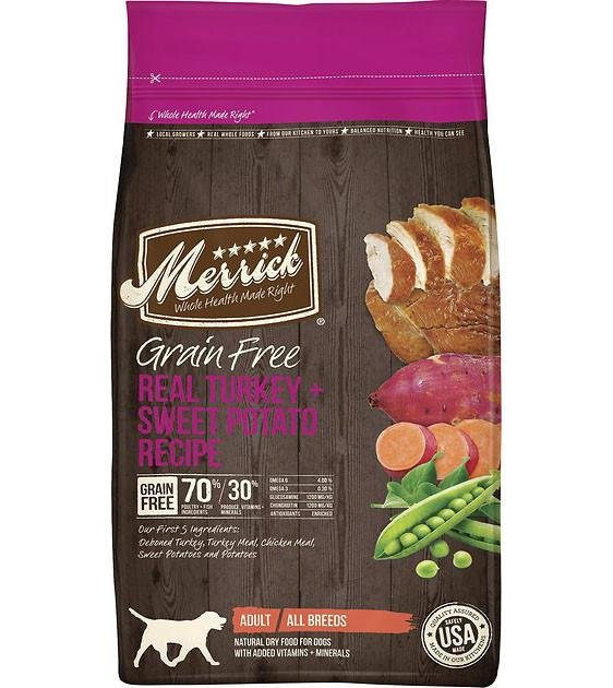 50% OFF + FREE TOPPER: Merrick Grain Free Turkey with Sweet Potato Dry Dog Food