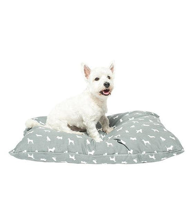 Mog & Bone Futon With Removable Cover Designer Dog Bed (Grey Dog)