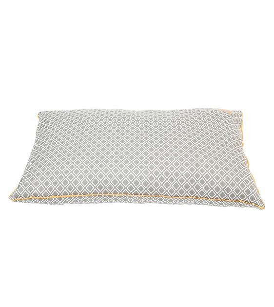 Mog & Bone Futon With Removable Cover Designer Dog Bed (Grey Ikat)