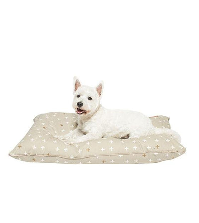 Mog & Bone Futon With Removable Cover Designer Dog Bed (Oatmeal Cross)