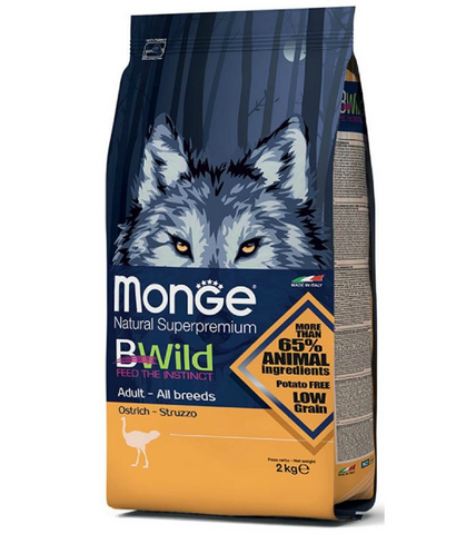 Monge Bwild Wild Ostrich Adult Dry Dog Food