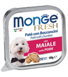 Monge Fresh Pork Pate with Chunkies Tray Dog Food