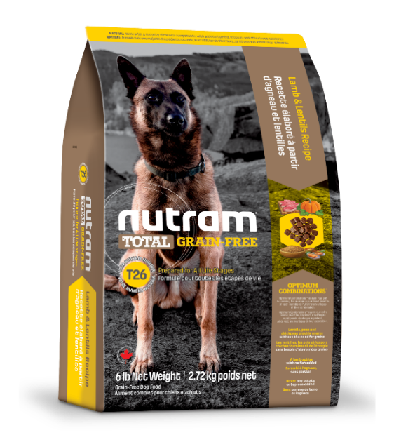 Nutram Total Grain-Free Lamb and Lentils T26 Dry Dog Food