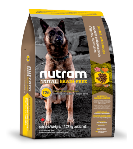 Nutram Total Grain-Free Lamb and Lentils T26 Dog Food