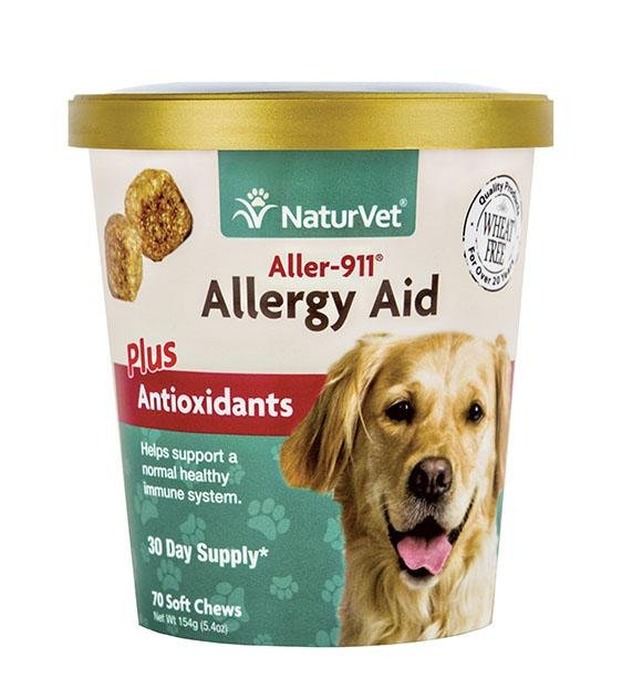 20% OFF: NaturVet Aller-911 - Allergy Aid Plus Antioxidants (Skin, Respiratory & Immunity) Soft Chew Dog Supplement