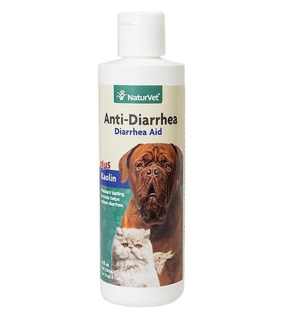 NaturVet Anti-Diarrhea Plus Kaolin Liquid Aid for Cats & Dogs