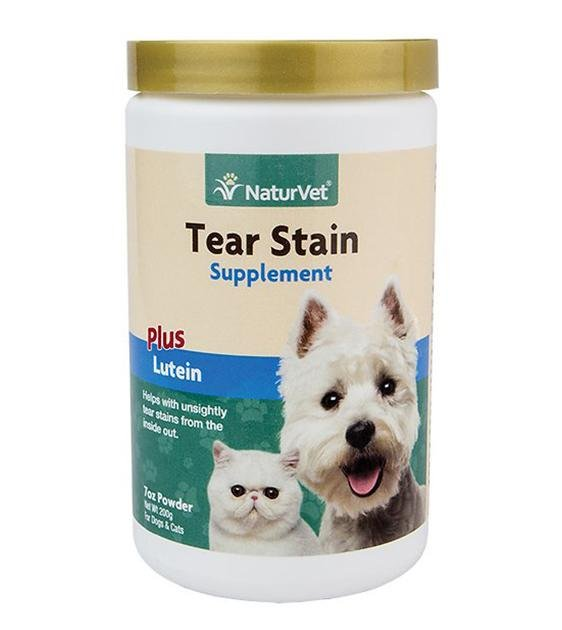 NaturVet Tear Stain Remover Powder Cat & Dog Supplement