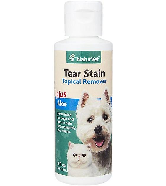 NaturVet Tear Stain Remover Topical Aid for Cats & Dogs