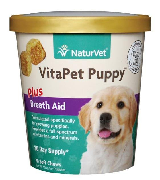 20% OFF: NaturVet VitaPet (Puppy) Daily Vitamins Plus Breath Aid Soft Chew Dog Supplement