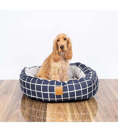Mog & Bone Four Seasons Reversible (Navy Check Print) Dog Bed