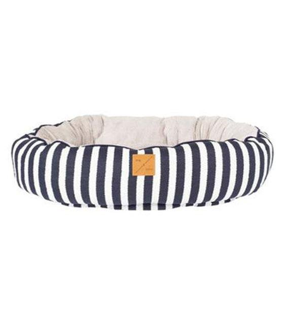 Mog & Bone Four Seasons Reversible (Navy Hamptons Stripe Print) Dog Bed