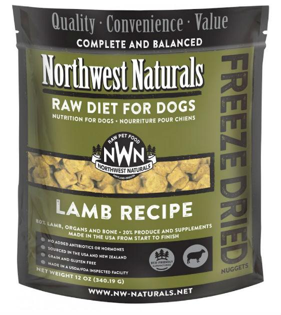 4 FOR $170: Northwest Natural's Freeze Dried Lamb Nuggets Dog Food