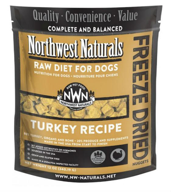 4 FOR $170: Northwest Natural's Freeze Dried Turkey Nuggets Dog Food