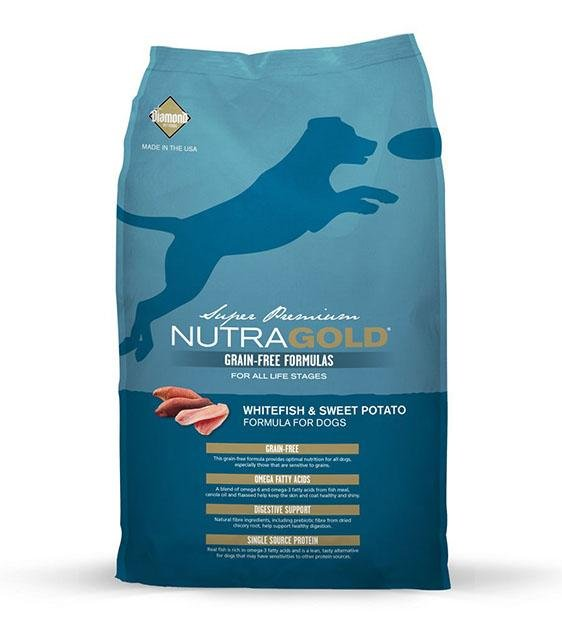 50% OFF: NutraGold Grain Free WhiteFish & Sweet Potato Dog Food