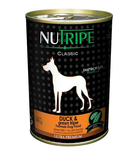 Nutripe Classic Grain Free Duck & Green Tripe Canned Dog Food