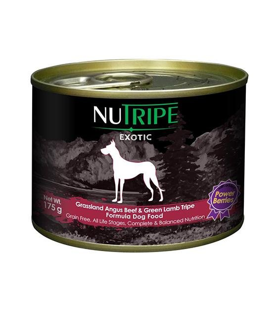 Nutripe Exotic Grain Free Angus Beef & Green Tripe with Berries Canned Dog Food