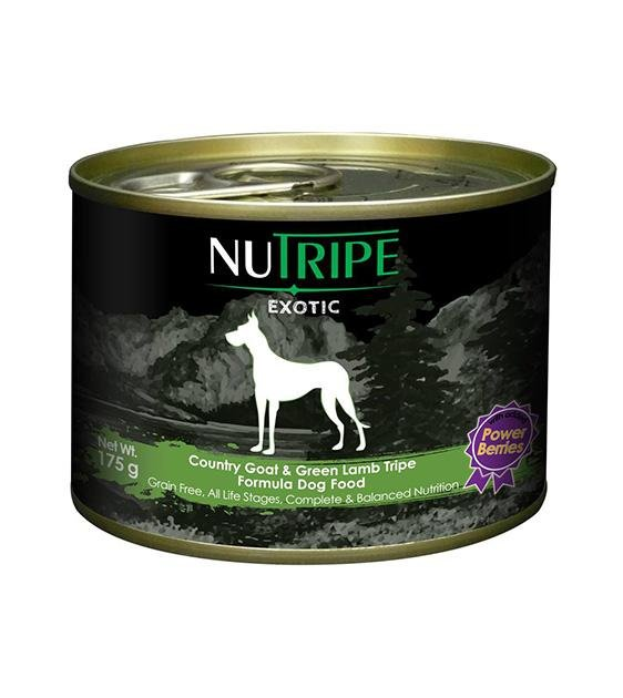 Nutripe Exotic Grain Free Country Goat & Green Tripe with Berries Canned Dog Food