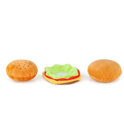 P.L.A.Y. Eco-Friendly American Classics Burger Dog Toy