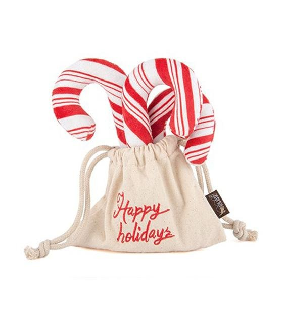 10% OFF: P.L.A.Y. Eco-Friendly Holiday Classics Candy Canes Dog Toy