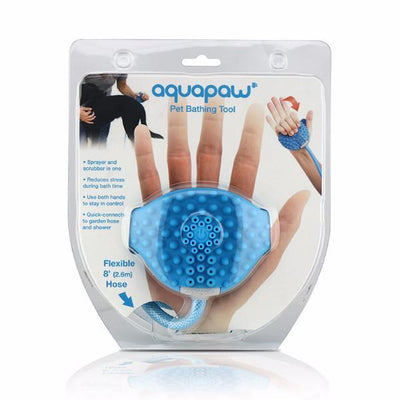 NEW LOW 40% OFF: Aquapaw 2-In-1 Bathing & Scrubbing Tool for Dogs