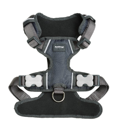 Red Dingo Padded Dog Harness (Charcoal)